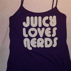 Juicy couture cami. Nerds. Super cute